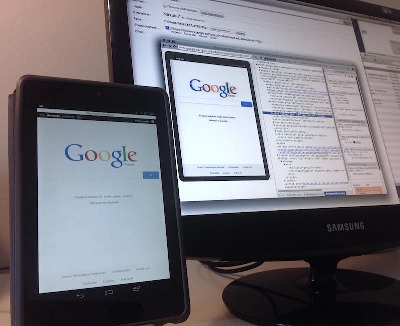 Chrome Remote Debugging en Android